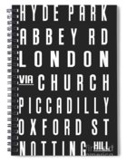 London City Subway Spiral Notebook