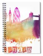 London England Skyline Pastel Spiral Notebook