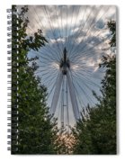 London Eye Vertical Panorama Spiral Notebook
