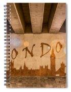 London Graffiti Skyline Spiral Notebook