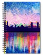 London In Blue  Spiral Notebook