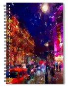 London Night Spiral Notebook