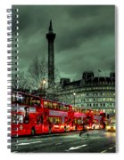 London Red Buses And Routemaster Spiral Notebook