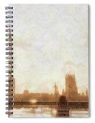 London Skyline At Dusk 01 Spiral Notebook