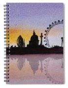 London Skyline At Sunset Spiral Notebook