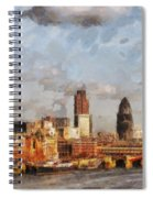 London Skyline From The River  Spiral Notebook