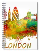London Skyline Watercolor Spiral Notebook