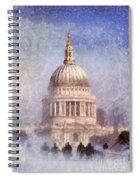 London St Pauls Fog 02 Spiral Notebook