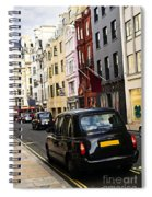 London Taxi On Shopping Street Spiral Notebook