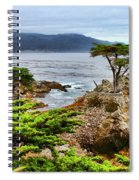 Lone Cypress By Diana Sainz Spiral Notebook