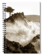Lone Cypress Tree On  Midway Point Pebble Beach California Circa 1916 Spiral Notebook
