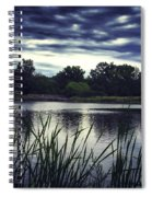 Lone Duck At Dusk Spiral Notebook