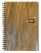 Lone Grebe Spiral Notebook