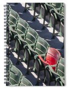 Lone Red Number 21 Fenway Park Spiral Notebook