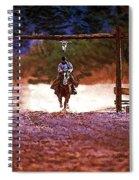 Lone Rider Spiral Notebook