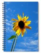 Lone Sunflower In A Summer Blue Sky Spiral Notebook