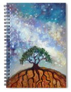 Lone Tree And Milky Way Spiral Notebook