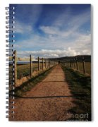Lone Walker On The North Yorkshire Coastal Path Spiral Notebook