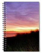 Lonely Beach At Sunrise Norfolk Va Spiral Notebook