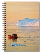 Lonely Boat - Greenland Spiral Notebook