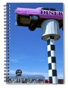 Lonely Diner With Pink Cadillac Spiral Notebook