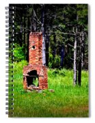 Lonely Fireplace Spiral Notebook