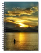 Lonely Fisherman Spiral Notebook