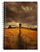 Lonely House On The Hill Spiral Notebook