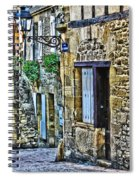 Lonely Lane In Sarlat France Spiral Notebook