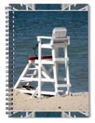 Lonely Lifeguard Station At The End Of Summer Spiral Notebook