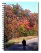 Lonely Road Home Spiral Notebook