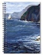 Lonely Schooner Spiral Notebook