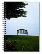Lonesome Bench Spiral Notebook