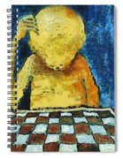 Lonesome Chess Player Spiral Notebook