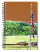 Lonestar Park - Backstretch - Photopower 2204 Spiral Notebook