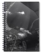 Long Beach Ca Aerial Bw Spiral Notebook