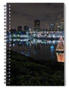 Long Beach Lights Spiral Notebook