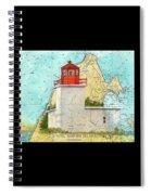 Long Eddy Pt Lighthouse Nb Canada Chart Art Peek Spiral Notebook