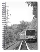 Long Island Railroad Pulling Into Station Spiral Notebook