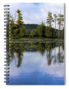 Long Lake Reflection Spiral Notebook