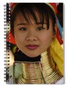 Long Necked Woman Thailand 4 Spiral Notebook