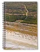 Long Road To The Coast Near Jekyll Island Spiral Notebook