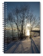 Long Shadows In The Snow Spiral Notebook