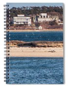 long view of Brant point lighthouse Spiral Notebook