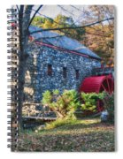 Longfellow's Wayside Inn Grist Mill In Autumn Spiral Notebook