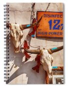 Longhorn Skulls On The Wall Spiral Notebook