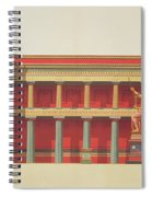 Longitudinal Section Of The Temple Spiral Notebook