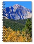Longs Peak Autumn Aspen Landscape View Spiral Notebook
