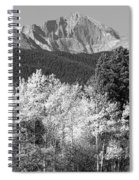 Longs Peak Autumn Scenic Bw View Spiral Notebook
