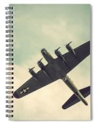 Look Up Vintage B-17 Flying Fortress Spiral Notebook